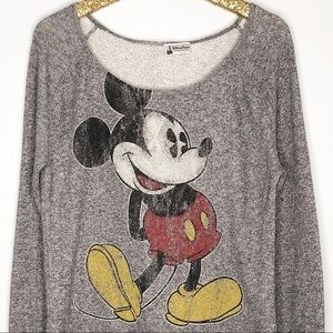 Disney Parks Mickey Mouse Terry Long Sleeve Shirt